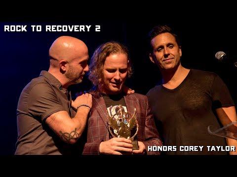 Corey Taylor (Slipknot, Stone Sour) Rock to Recovery 2017 Icon Award Emotional Acceptance Speech