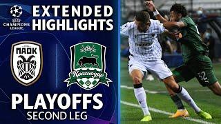 PAOK vs Krasnodar: Extended Highlights | Playoffs 2nd Leg | UCL on CBS