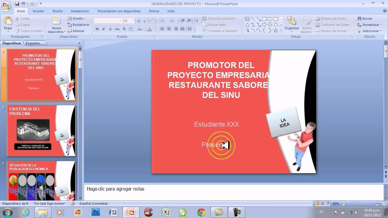 video powerpoint no 011 diapositiva costos estimativos