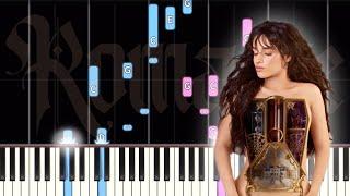 Camilla Cabello - First Man - EASY Piano Tutorial + Sheet Music (Romance Album)