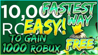[2018]HOW TO EARN FREE ROBUX ON ROBLOX!!|EASIEST WAY TO EARN 1K+ ROBUX IN AN HOUR!|ROBLOX