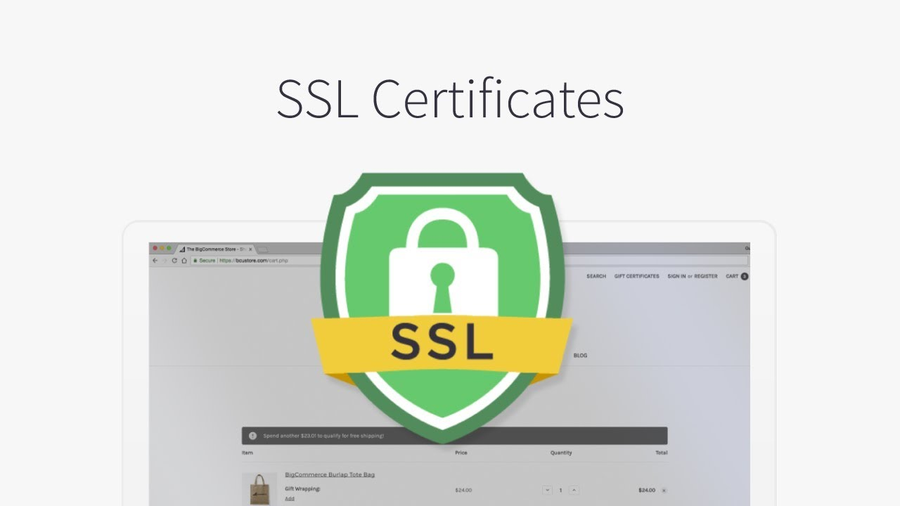 Ssl certificates bigcommerce tutorials youtube ssl certificates bigcommerce tutorials xflitez Choice Image