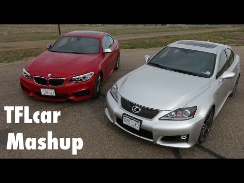 2014 BMW M235i vs Lexus IS F Mashup 0-60 MPH Review: Japanese vs German Muscle