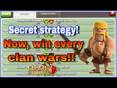 NOW, WIN EVERY SINGLE WAR IN CLASH OF CLANS | SECRET STRATEGY
