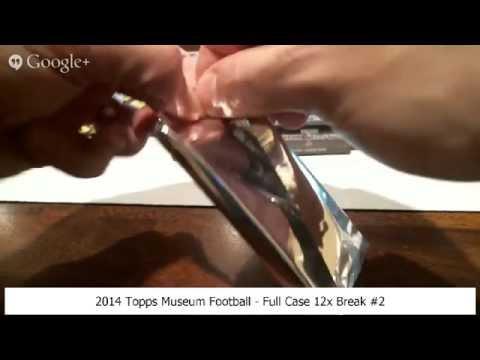 2014 Topps Museum Football - Full Case 12x Break #2