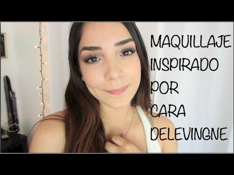 maquillaje inspirado por  delevingne youtube