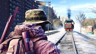 Battlefield 4 Dragons Teeth - Stopping the Train! (Insane Tank Launch, Online Funny Moments & More!)