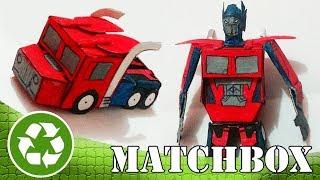 Fácil | Optimus Prime com Caixa de Fósforos! (Transformers) Brinquedo de Papel