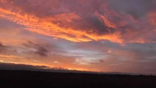 Stunning Gold & Blue sunset  sky Burwell fen cambridgeshire   UK 21Dec14 354p