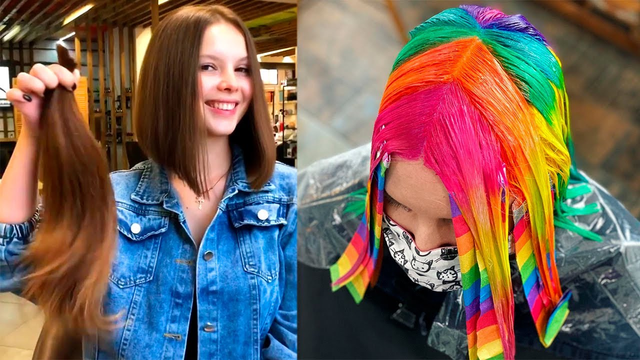 Hottest Bob Haircut Tutorial | Trendy Hair Color Transformations | Hairstyle Ideas For Women