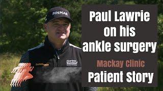 Paul Lawrie on his return following ankle surgery