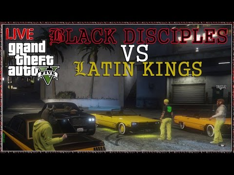 "GTA V Online Gang War ""Black Disciples VS Latin Kings"" GTA 5 Online Gameplay Next Gen Xbox One"