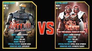REAL STEEL WRB Atom VS Twin Cities New Robots UPDATE (Живая Сталь)