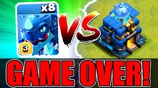 ALL MAX ELECTRO DRAGONS vs TOWN HALL 12! - SHOCKING OUTCOME! - Clash Of Clans