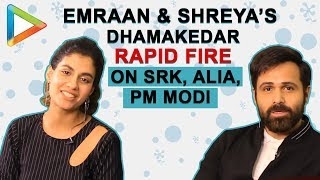 DON'T MISS: Emraan Hashmi & Shreya's HILARIOUS Rapid Fire on SRK, First Crush, Narendra Modi