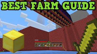 Minecraft - BEST FARM: Gold Farm Tutorial (My Favourite Farm)