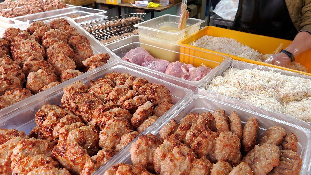 육즙이 살아있는 떡갈비는 어떻게 만들까? 대박 난 떡갈비집 몰아보기 | Tteokgalbi, Homemade Giant Meatball | Korean Street food