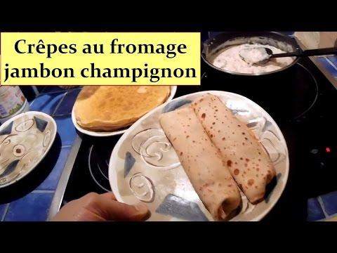 Crêpes au fromage jambon champignons HD 1080p FR