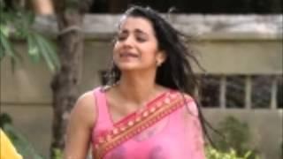 Trisha in wet hotsaree  In Khalavathi Movie
