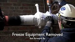 Freezing a 4-Inch Pipe That's In Use to Add Isolation Valve
