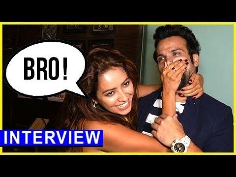 Asha Negi And Rithvik Dhanjani Cute And Funny Interview | Sargun Mehta Birthday Bash | TellyMasala