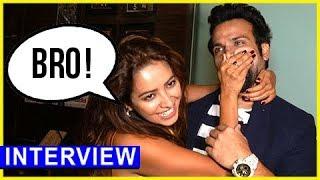 asha-negi-and-rithvik-dhanjani-cute-and-funny-interview-sargun-mehta-birthday-bash-tellymasala