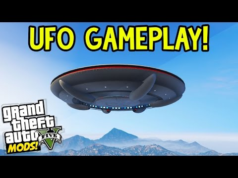 GTA 5 UFO Gameplay! GTA 5 Mod Showcase EP 16