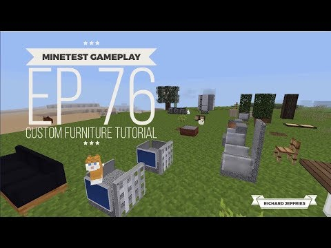 Minetest Gameplay EP76 - Custom Furniture  Tutorial PT1