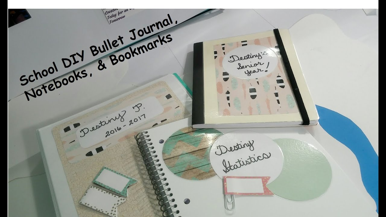 school diy bullet journal notebooks bookmarks youtube. Black Bedroom Furniture Sets. Home Design Ideas