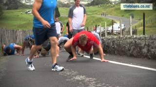 Blues pre-season training: sprints up One Tree Hill