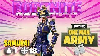 "18 Kill Fortnite New ""Hime"" SKINS Gameplay à Fortnite . Nouvelles peaux de samouraï à Fortnite!"
