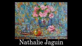 """Millefiori still life 2"", palette knife oil painting, by Nathalie JAGUIN"