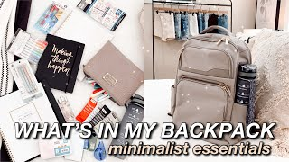 WHAT'S IN MY BACKPACK 2020 ☆ MINIMALIST ESSENTIALS