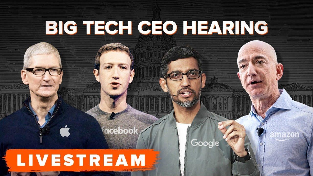 Watch Biggest Tech Billionaires Testify Before Congress Full Hearing Youtube