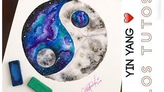COMO DIBUJAR YIN YANG  - PAPEL  STRATHMORE  - HOW TO DRAW YIN YANG