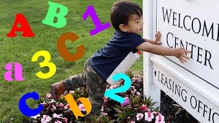 Outdoor Hunt For Letters, Number|2-3 Year Old Learning Activity|toddler Learning Videos For Children
