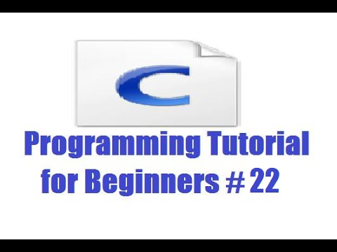 C Programming for Beginners 22 - Array of pointers from YouTube · Duration:  8 minutes