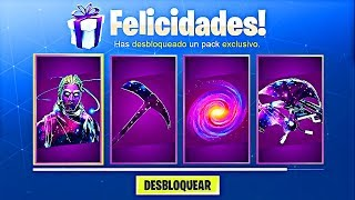 CÓMO DESBLOQUEAR el GALAXY SKIN PACK GRATIS en Fortnite! (Fortnite Battle Royale Pack Gratis)