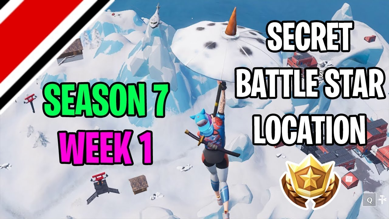 Fortnite Season 7 Week 1 Secret Battlestar Location Snowfall