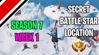 Fortnite Season 7 Week 1 Secret Battlestar Location (Snowfall Challenges)