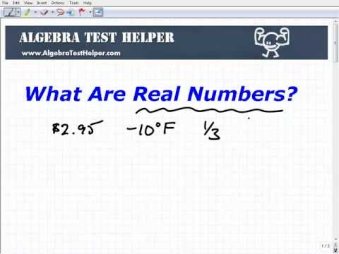 What Are The Real Numbers?