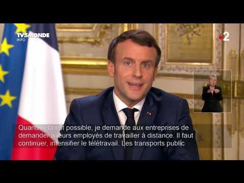 🔴 Coronavirus - Allocution du président Emmanuel Macron sur l'épidémie de Covid-19 - France 🇫🇷