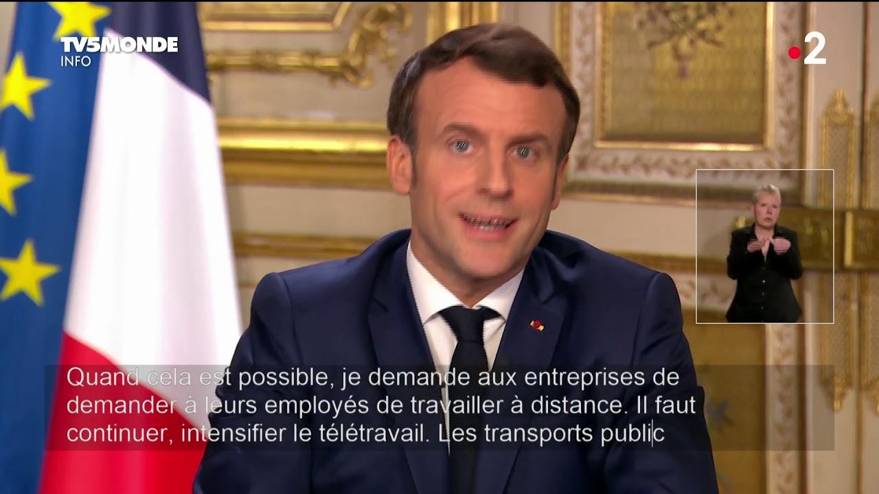 ? Coronavirus - Allocution du président Emmanuel Macron sur l'épidémie de Covid-19 - France ??