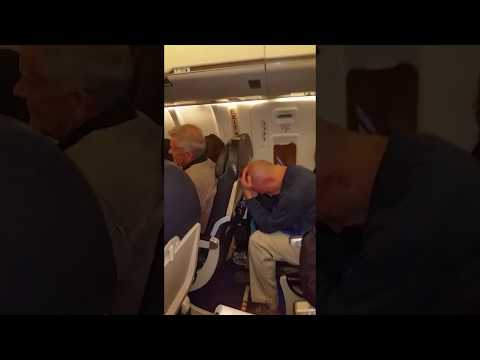 American Airline Flight Attendant So Loud That Passengers Were Closing Their Ears