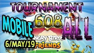Angry Birds Friends All Levels MOBILE Tournament 608 Highscore POWER UP Walkthrough AngryBirds