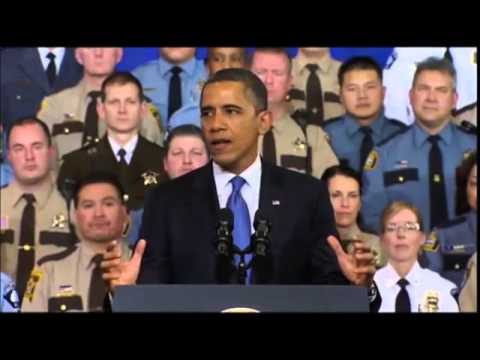 Obama  'Weapons of War Have No Place on Streets' online video cutter com