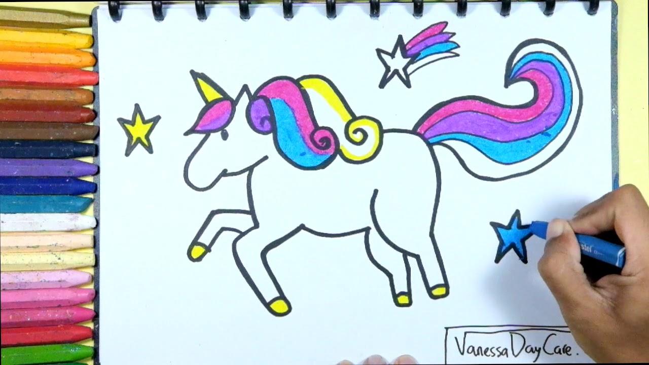Tutorial Menggambar Kuda Poni Mewarnai Kuda Poni Edukasi Anak Dengan Glitter Youtube