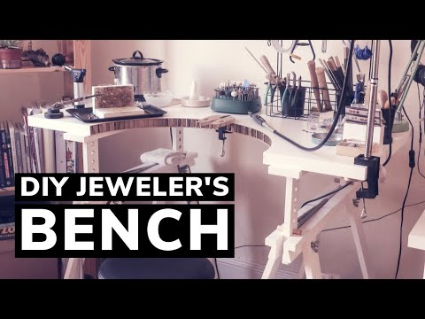 Easy DIY JEWELER'S BENCH! How To Make A Simple Bench At Home For Jewelry Making