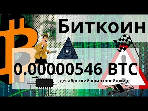 Биткоин 0.00000546 BTC декабрьский криптопейджинг. 2030 Год крипта вытеснит фиат?