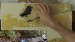 Горный Пейзаж Маслом - Как Нарисовать Горный Ручей - Урок 3 - Юрий Клапоух (2019)